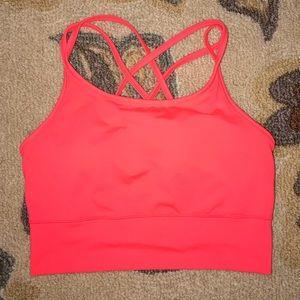 Old Navy Pink Sports Bra/ Cropped Vest Size M